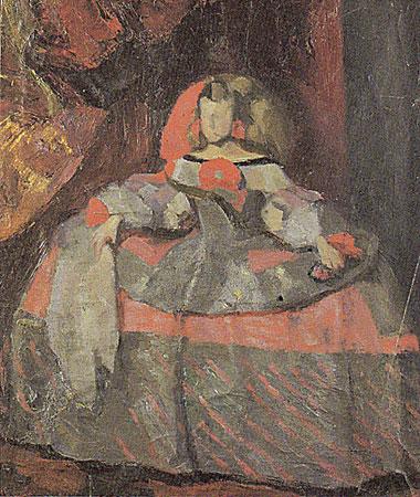 Copie de l'infante Marguerite d'après Velasquez