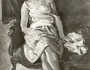 Femme endormie dans un fauteuil