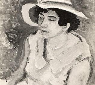 Noémie au grand chapeau blanc