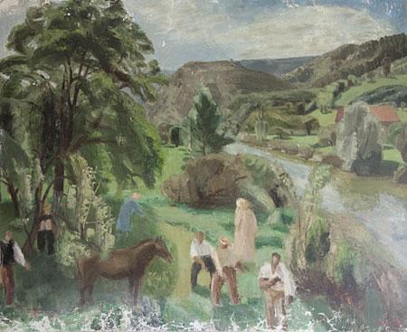 Le cheval et les paysans