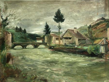 Le petit pont à Vaufrey, Franche-Comté