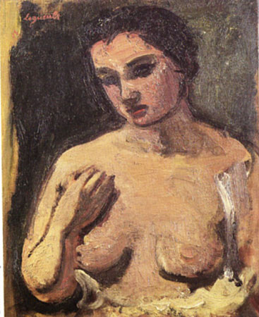 Portrait de jeune femme nue