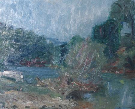 Paysage avec rivière