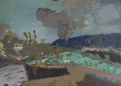 Les barques au bord de la rivière