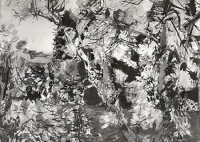Les frênes au bord de la Loue