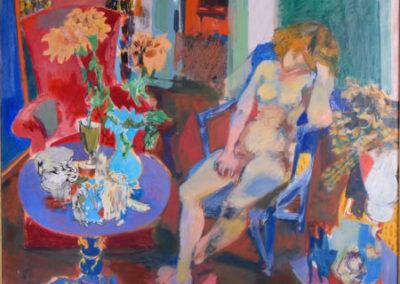 Femme au guéridon bleu