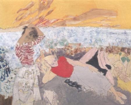 Femmes sur la plage de Porquerolles