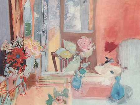 La table de la salle à manger aux Sorbiers, ou la nature morte à la rose