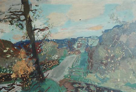 Paysage du Jura: la Loue